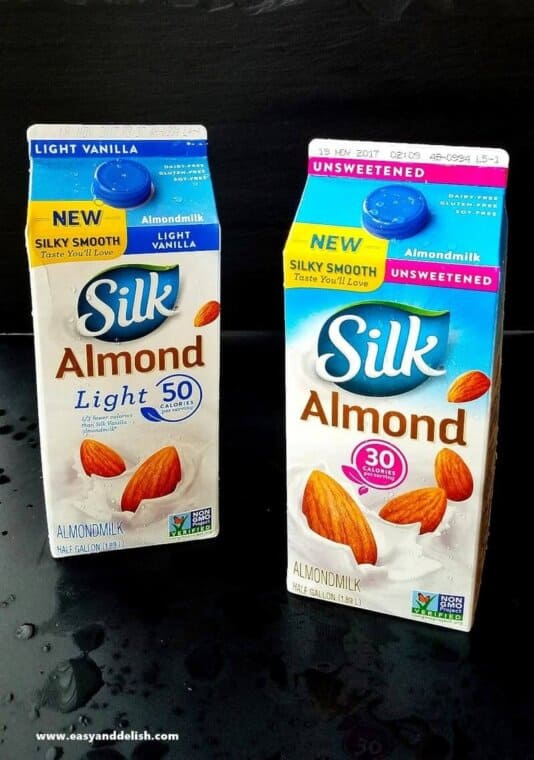 2 cartons of Silk Almond Milk