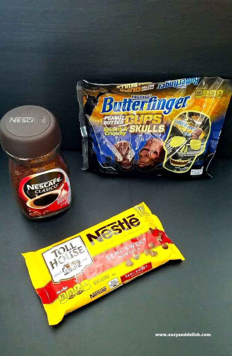 3 ingredients for coffee fudge