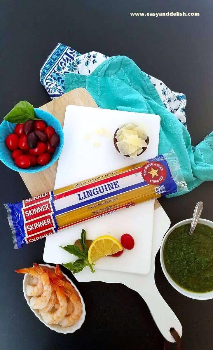ingredients for kale pasta