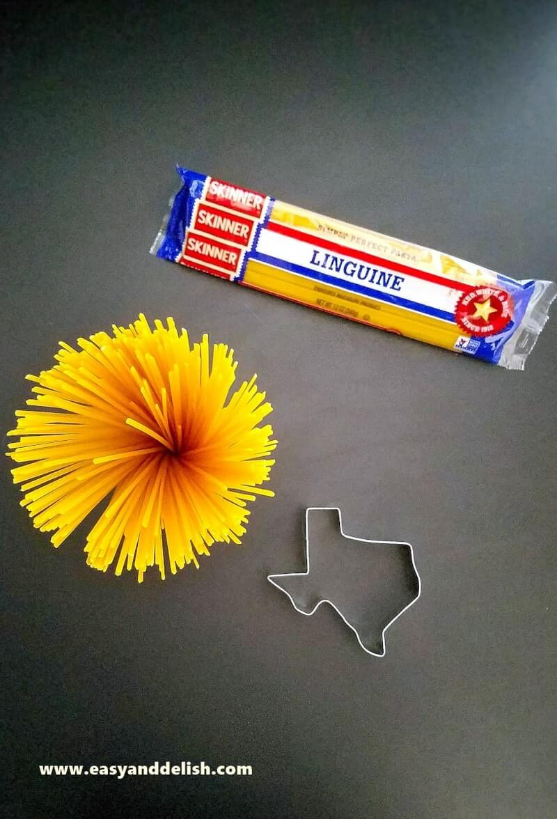 dry pastas with a Texas cookie cutter