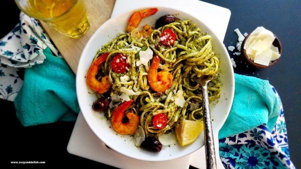 Kale-pesto-pasta