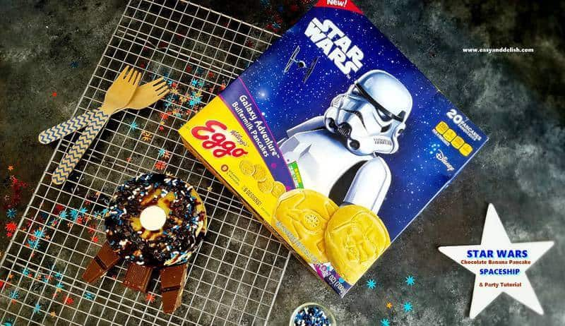 star wars pancakes box with pancakes on a rack