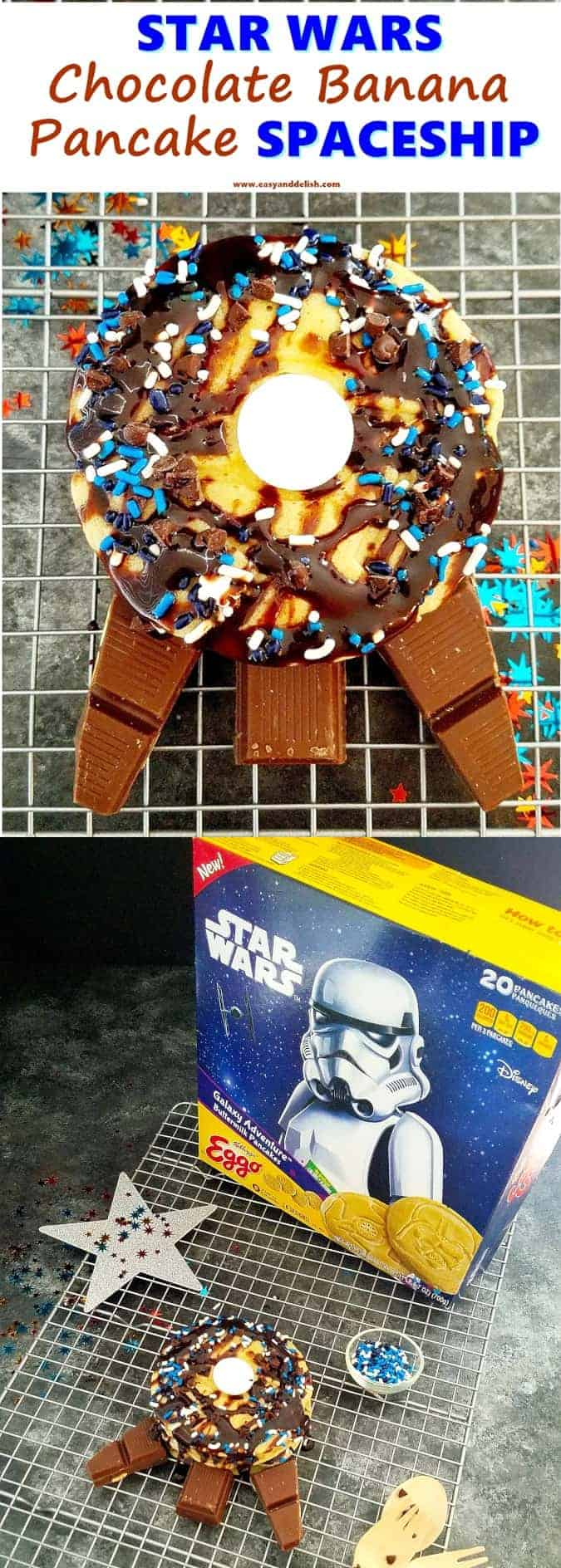 collage with Star Wars pancakes