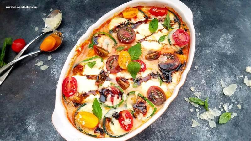 Caprese-zucchini-roll-ups, Caprese-zucchini-lasagna, Caprese-zucchini-roll-ups-casserole
