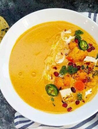 Cauliflower-curry-soup, Vegetable-soup, Cauliflower-soup, Cauliflower-curry, Curry-soup