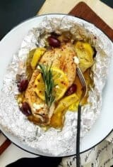 Keto Mediterranean Chicken Foil Packets Recipe