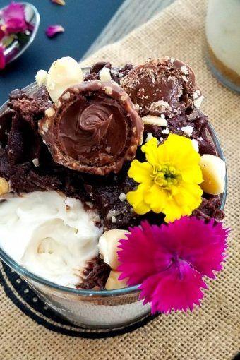 No-Bake-Ferrero-Rocher-Coconut-Cheesecake-Jars, No-Bake-Coconut-Cheesecake-with-Hazelnut-Nutella-Ganache-in-a-Jar, Ferrero-Rocher-Coconut-Cheesecake-Jars