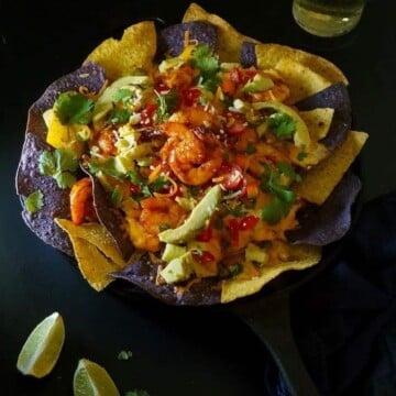 One-skillet-shrimp-nachos, Game-on-shrimp-skillet-nachos