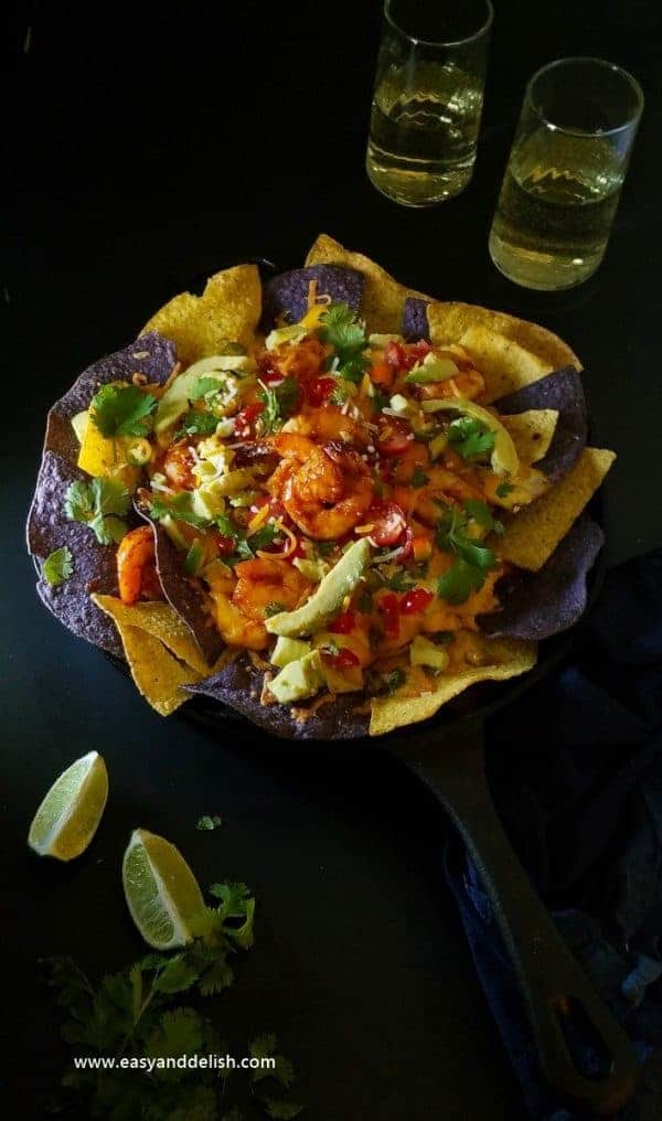 One-skillet-shrimp-nachos, Game-on-shrimp-skillet-nachos
