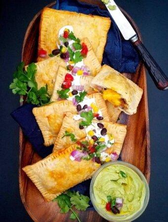 Takeout-Southwestern-taco-pie, Southwestern-taco-pop-tarts