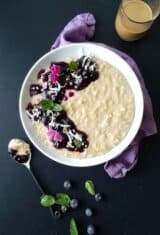 Guilt-Free Blueberry Coconut Oatmeal Pudding