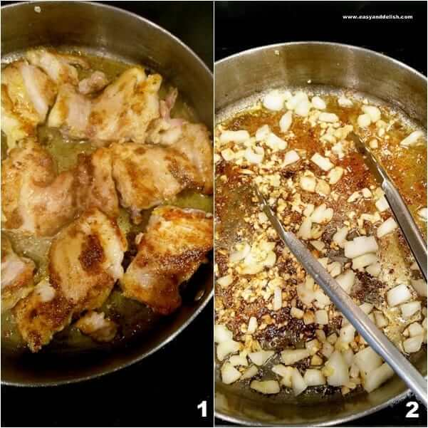 images showing how to make coconut chicken curry
