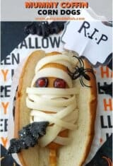 4-Ingredient Halloween Mummy Coffin Corn Dogs