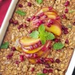 Make-Ahead Apple Spice Baked Oatmeal with Caramelized Apples