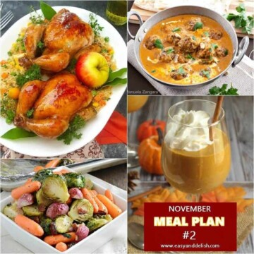 A bunch of different types for November meal plan