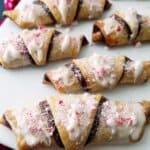 close up of Nutella roll-ups