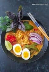 20-Minute One Pot Coconut Noodle Soup (Thai Style)