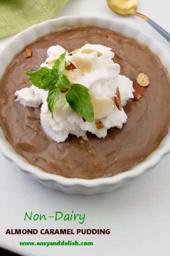 caramel pudding in a ramekin -- close up