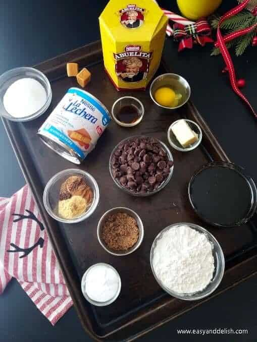 Ingredients for gingerbread cookie bars