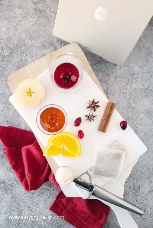 Ingredients used to make snowball mulled wine