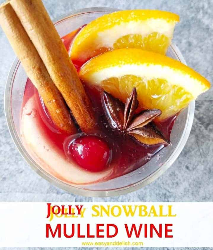a glass of mulled wine for Christmas