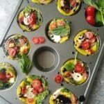breakfast egg cups in a muffin tin