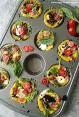 Quick and Easy Grab-and-Go Caprese Breakfast Egg Cups