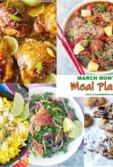 March Monthly Meal Plan -- #6