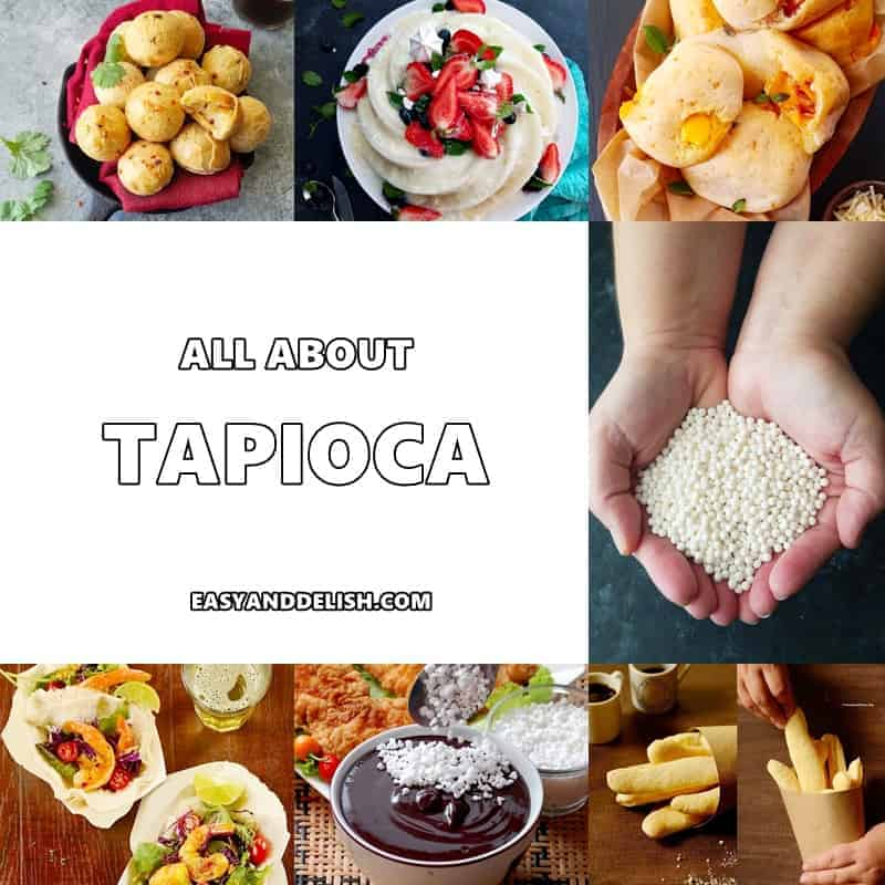 A bunch of different types of dishes made with tapioca