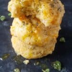 A pile of low carb biscuits