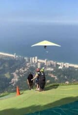 Hang gliding on Pedra da Gavea