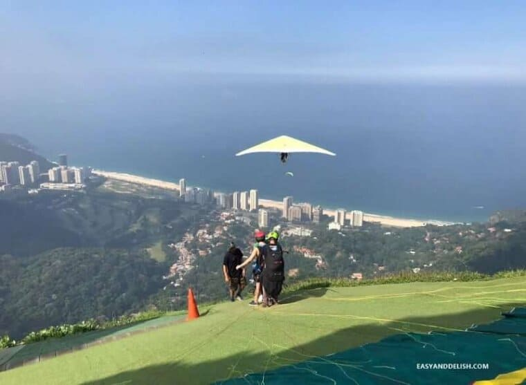 hang gliding on the Gavea rock -- one of the awesome things to do in Rio de Janeiro
