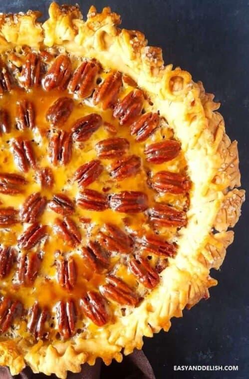 Close up image of Easy Texas Pecan Pie