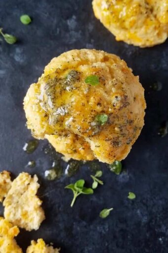 A close up of low carb biscuits