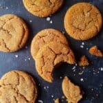 ginger molasses cookies over a table