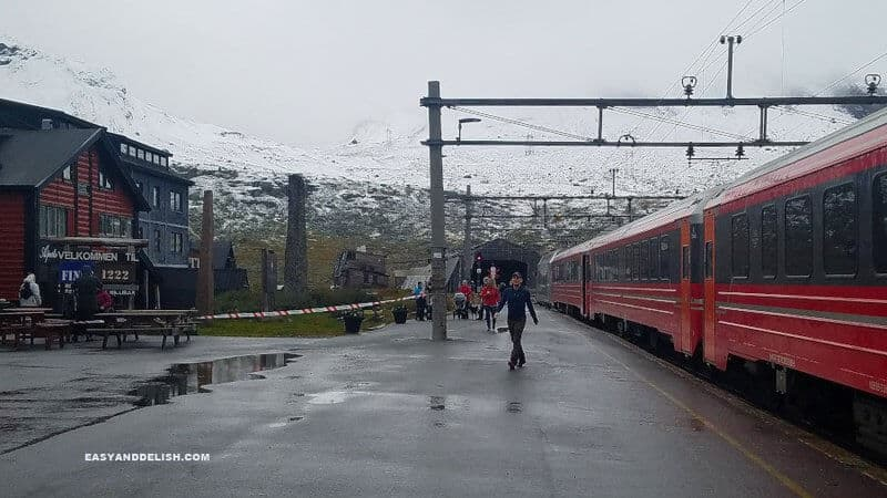 Train station in Norway