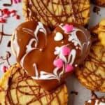 A close up of keto shortbread cookies