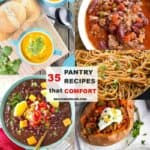 35 pantry recipes collage