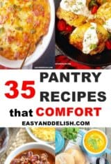 easy pantry recipes collage