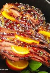 Slow Cooker Ham Recipe with Orange Glaze