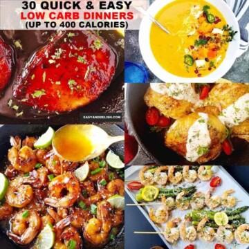 A bunch of quick and easy low carb dinners