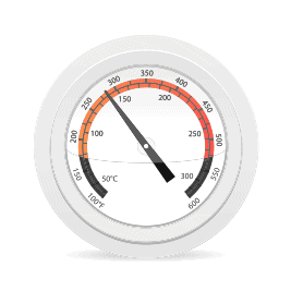 oven dial thermometer to measure temperature