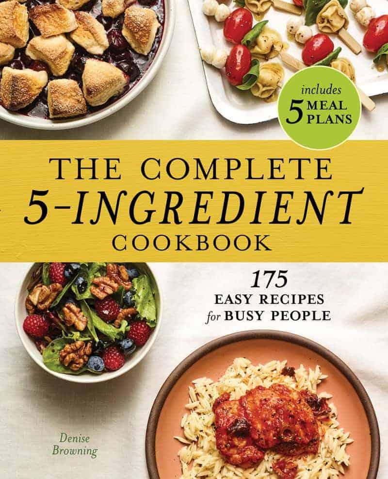 capa do livro de receitas faceis com 5 ingredientes da Denise Browning