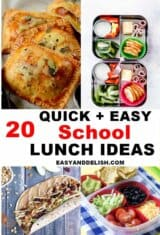 photo collage of kids lunch ideas