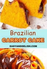 photo collage of Brazilian carrot cake