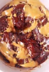 Peanut Butter Mug Cake with Chocolate (Keto)