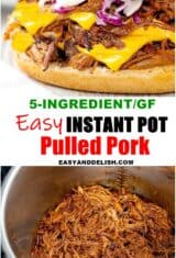 image collage of instant pot pulled pork
