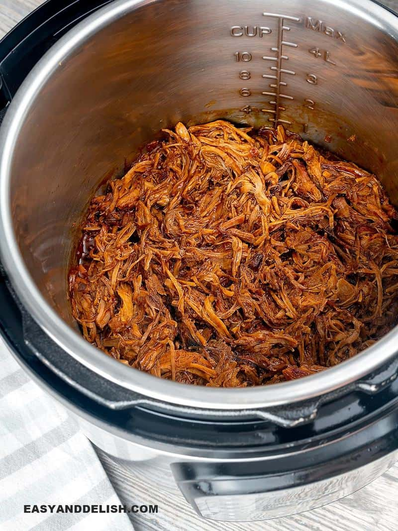 pulled pork in the Instant Pot or Pressure Cooker