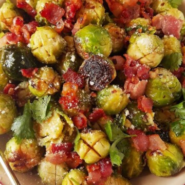 instant pot brussels sprouts in a bowl