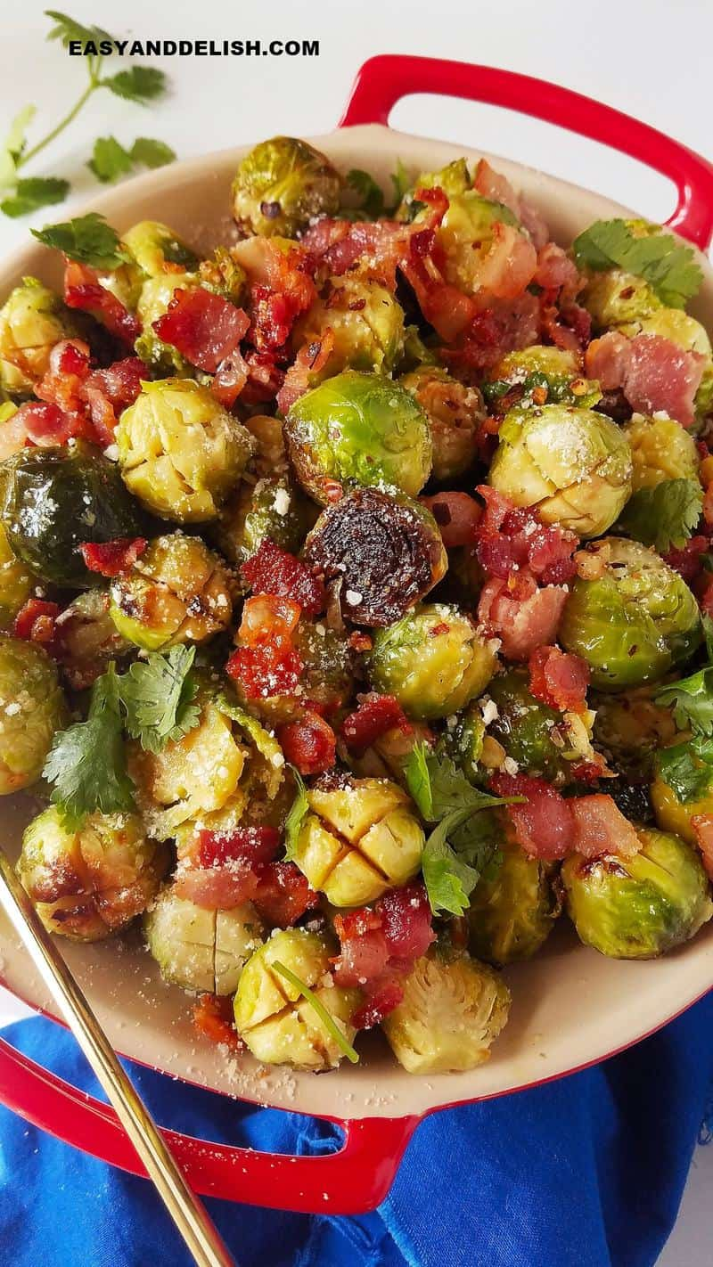 Instant Pot Brussels sprouts ina bowl